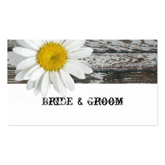 Old Wood Shasta Daisy Place Cards Business Cards