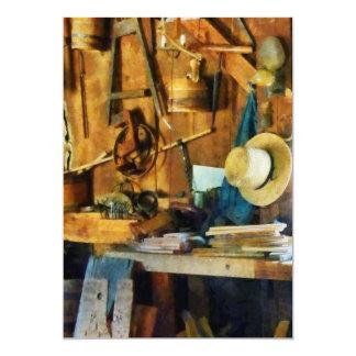 Old Wood Shop 13 Cm X 18 Cm Invitation Card