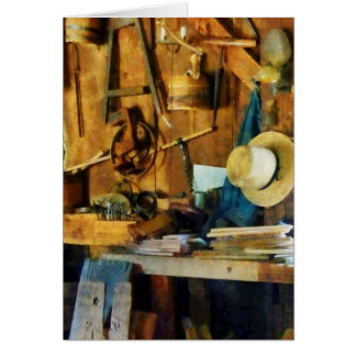 Old Wood Shop Greeting Card