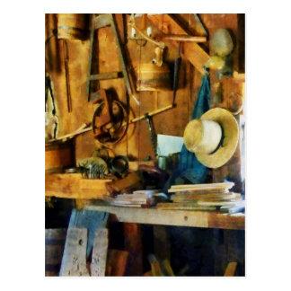 Old Wood Shop Postcard