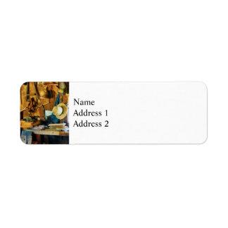 Old Wood Shop Return Address Label