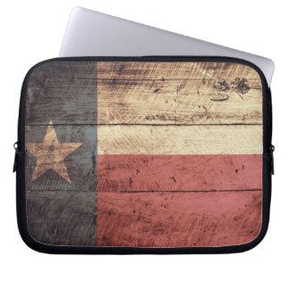 Old Wood Texas Flag Computer Sleeve