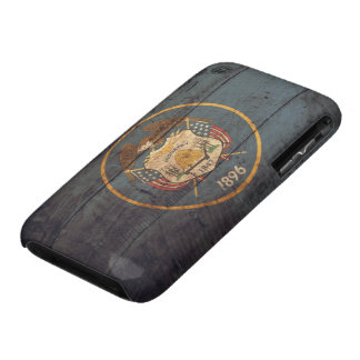 Old Wood Utah Flag iPhone 3 Case-Mate Case