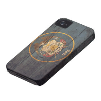 Old Wood Utah Flag Case-Mate iPhone 4 Cases