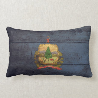 Old Wood Vermont Flag; Lumbar Cushion