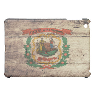 Old Wood West Virginia Flag Cover For The iPad Mini