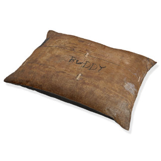 Old Wood with (or without) your Pet's Name Pet Bed