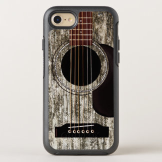 Old Wooden Acoustic Guitar OtterBox Symmetry iPhone 8/7 Case