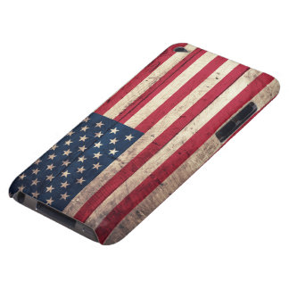 Old Wooden American Flag iPod Case-Mate Cases