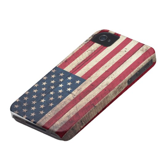 Old Wooden American Flag Case-Mate iPhone 4 Cases