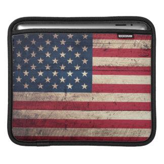 Old Wooden American Flag iPad Sleeve