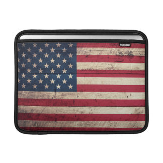 Old Wooden American Flag Sleeve For MacBook Air