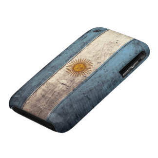 Old Wooden Argentina Flag Case-Mate iPhone 3 Cases