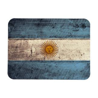 Old Wooden Argentina Flag Rectangle Magnets