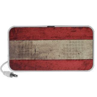 Old Wooden Austria Flag Mini Speaker