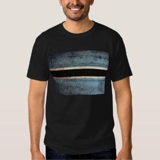 Old Wooden Botswana Flag; Tee Shirt