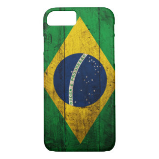 Old Wooden Brazil Flag iPhone 7 Case