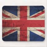 Old Wooden British Flag Mousepad