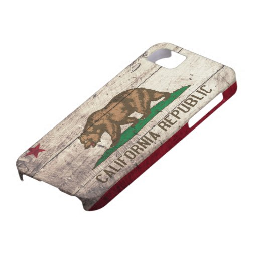 Old Wooden California Flag iPhone 5 Cases