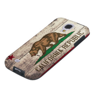 Old Wooden California Flag Galaxy S4 Case