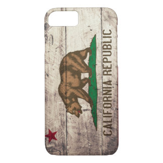 Old Wooden California Flag iPhone 7 Case