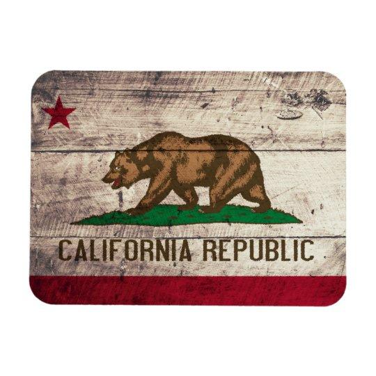 Old Wooden California Flag Magnet