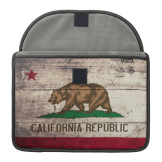 Old Wooden California Flag Sleeve For MacBook Pro