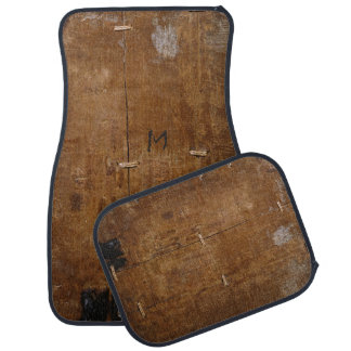 """Old """"Wooden"""" car mat with (or without) Initial"""