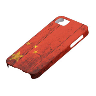 Old Wooden China Flag iPhone 5 Cover