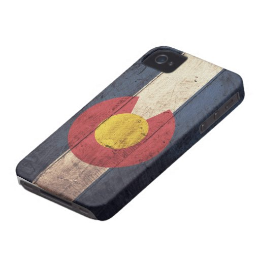 Old Wooden Colorado Flag Case-Mate iPhone 4 Case