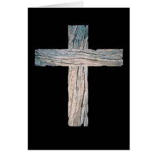 Old Wooden Cross Card