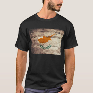 Old Wooden Cyprus Flag; T-Shirt