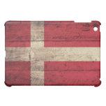 Old Wooden Denmark Flag iPad Mini Case