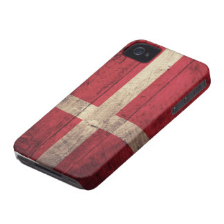 Old Wooden Denmark Flag iPhone 4 Case-Mate Case