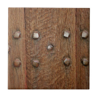 Old Wooden Door Antique Nails Tile