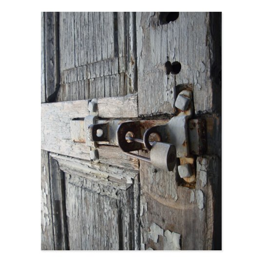 Old Wooden Door Postcard