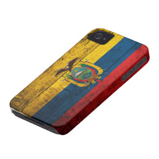 Old Wooden Ecuador Flag iPhone 4 Case