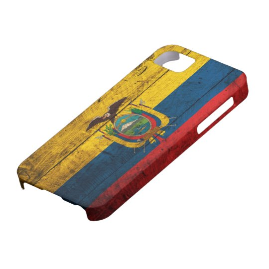 Old Wooden Ecuador Flag iPhone 5 Cases