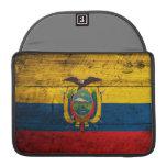 Old Wooden Ecuador Flag MacBook Pro Sleeves