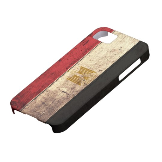 Old Wooden Egypt Flag iPhone 5 Cases