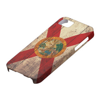 Old Wooden Florida Flag; iPhone 5 Cases
