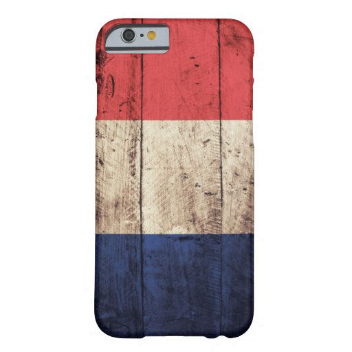 Old Wooden France Flag iPhone 6 Case