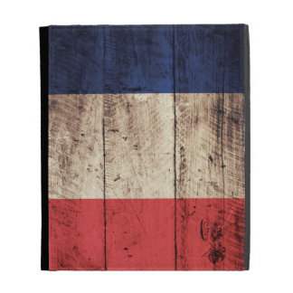 Old Wooden France Flag; iPad Folio Cases