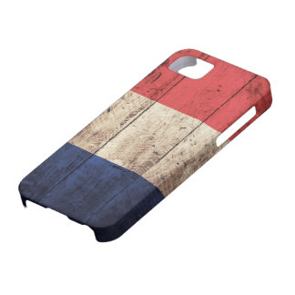 Old Wooden France Flag iPhone 5 Cases