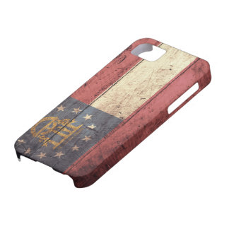 Old Wooden Georgia Flag; Case For The iPhone 5