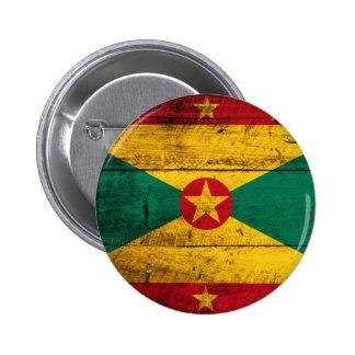 Old Wooden Grenada Flag Button