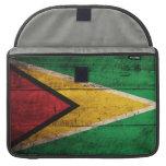 Old Wooden Guyana Flag MacBook Pro Sleeves