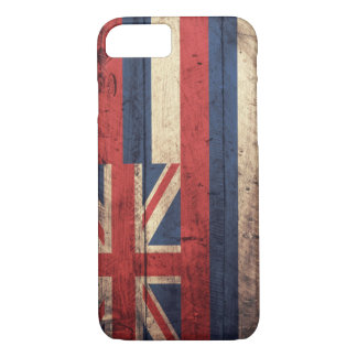 Old Wooden Hawaii Flag; iPhone 8/7 Case