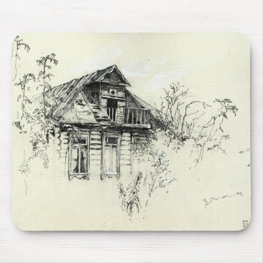 Old Wooden House in Russia Mouse Pad