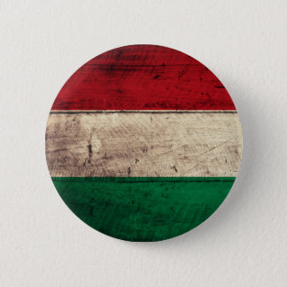 Old Wooden Hungary Flag 6 Cm Round Badge